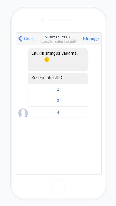 Chatbots pavyzdys